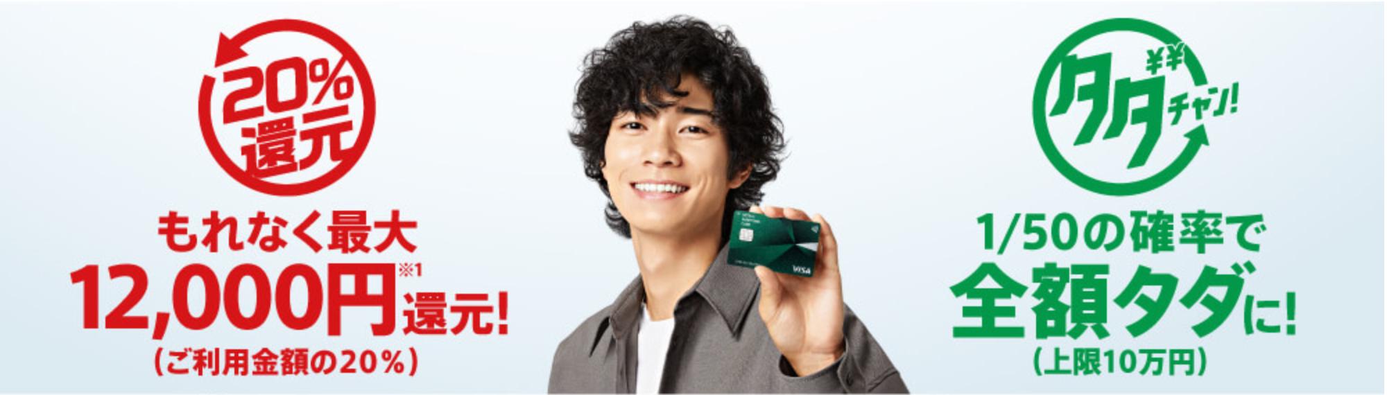 三井住友カード12,000円(20%)還元キャンペーン